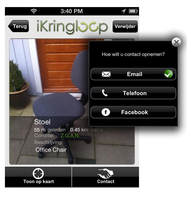 Posting an item in iKringloop