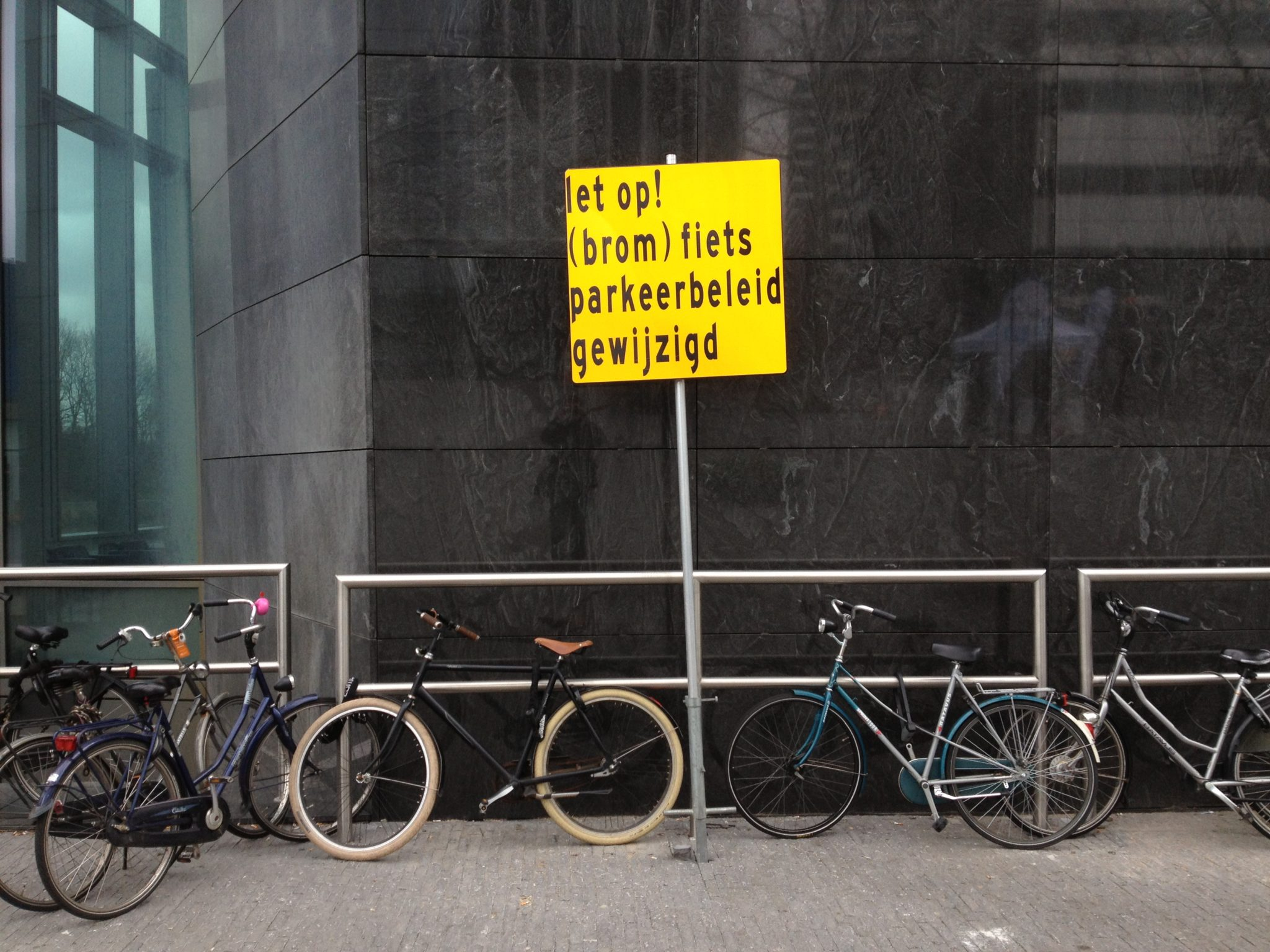 Bike Parking Sign in Amsterdam