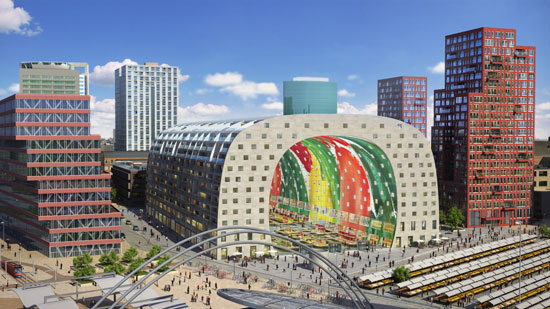 Rendering for the Rotterdam Market Hall, scheduled for completion in 2014